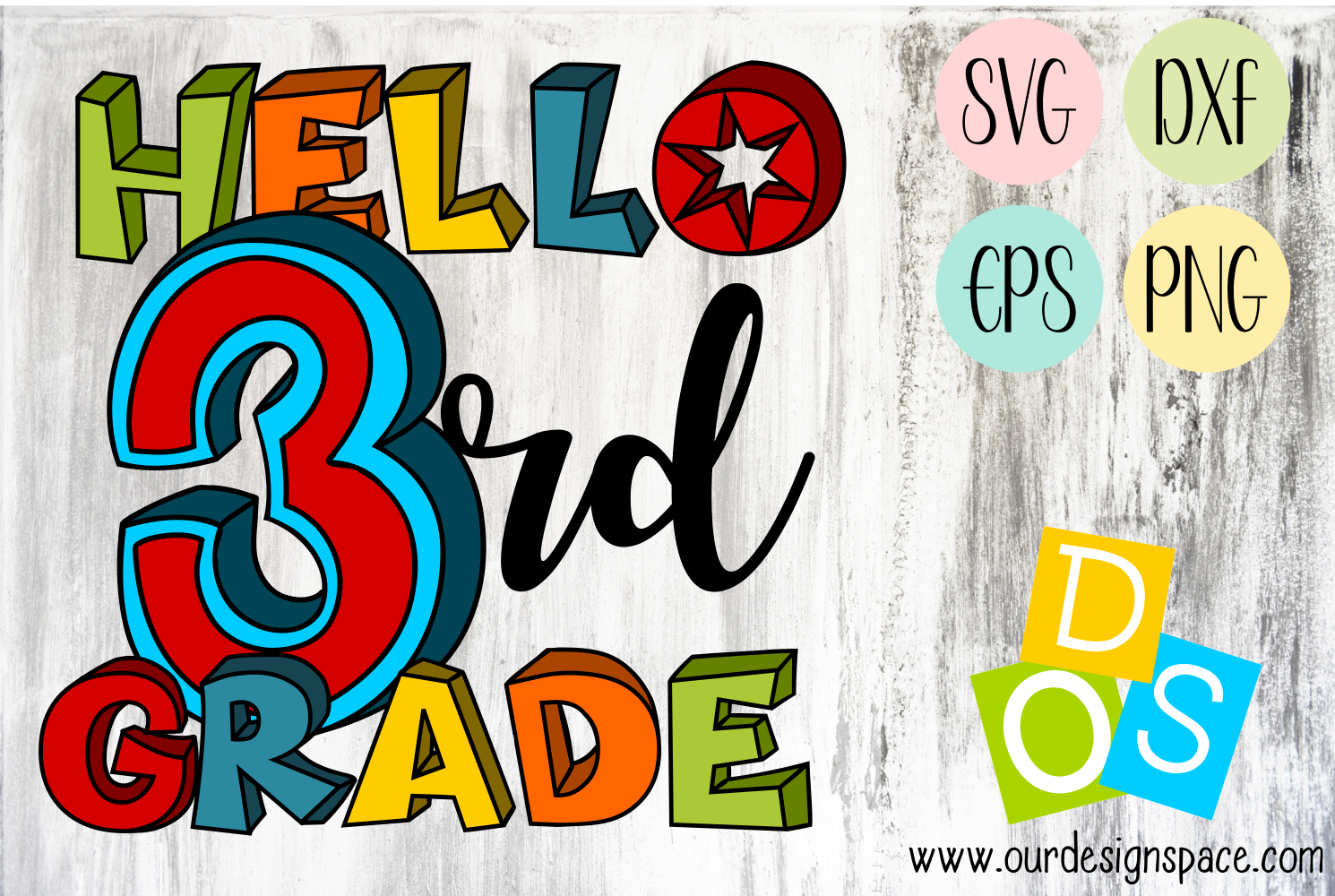 Hello 3rd Grade SVG, DXF, EPS and PNG