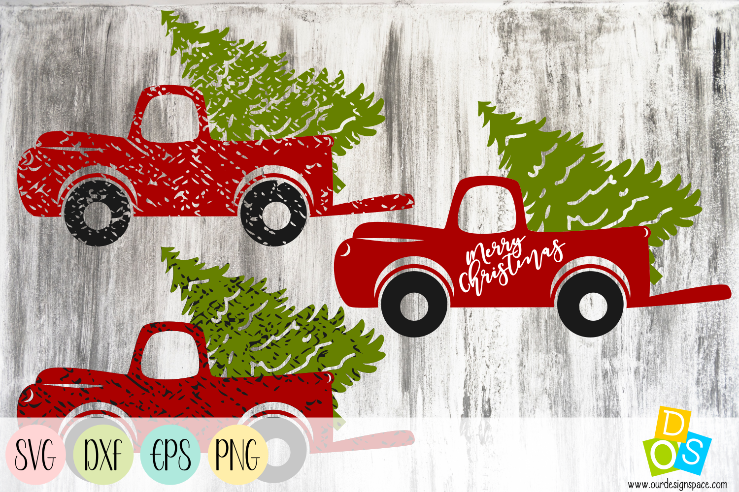 Christmas Truck SVG, DXF, EPS and PNG