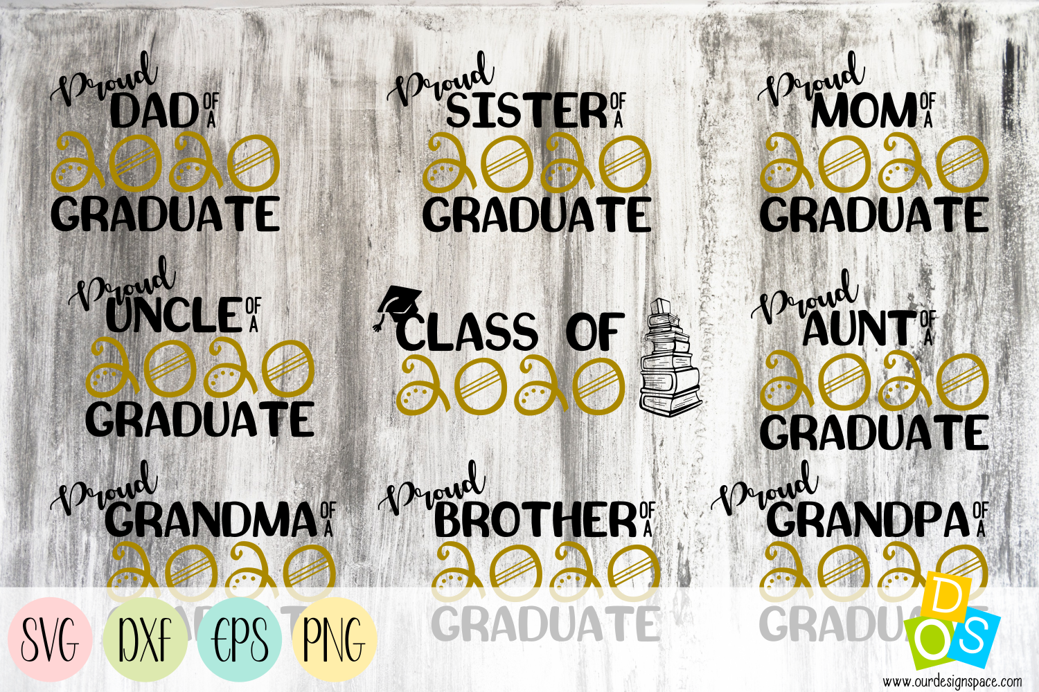 Class OF 2020 SVG, DXF, EPS and PNG