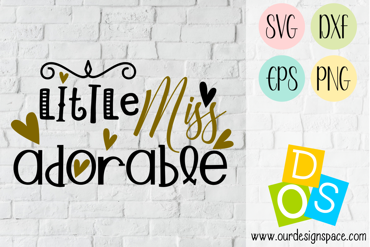 Little Miss Adorable SVG, DXF, EPS and PNG file