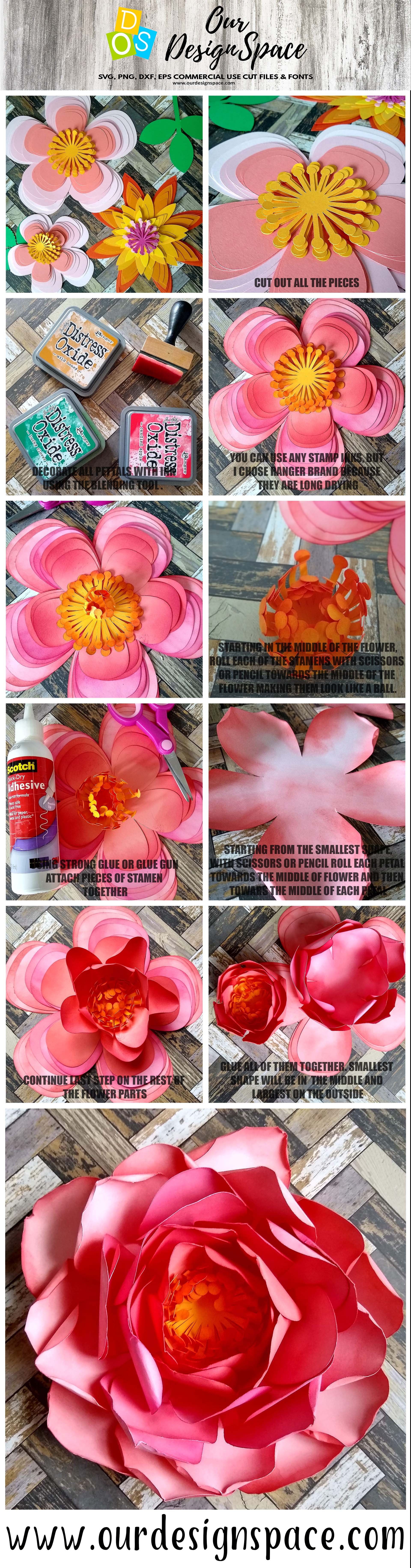 paper flowers instructions