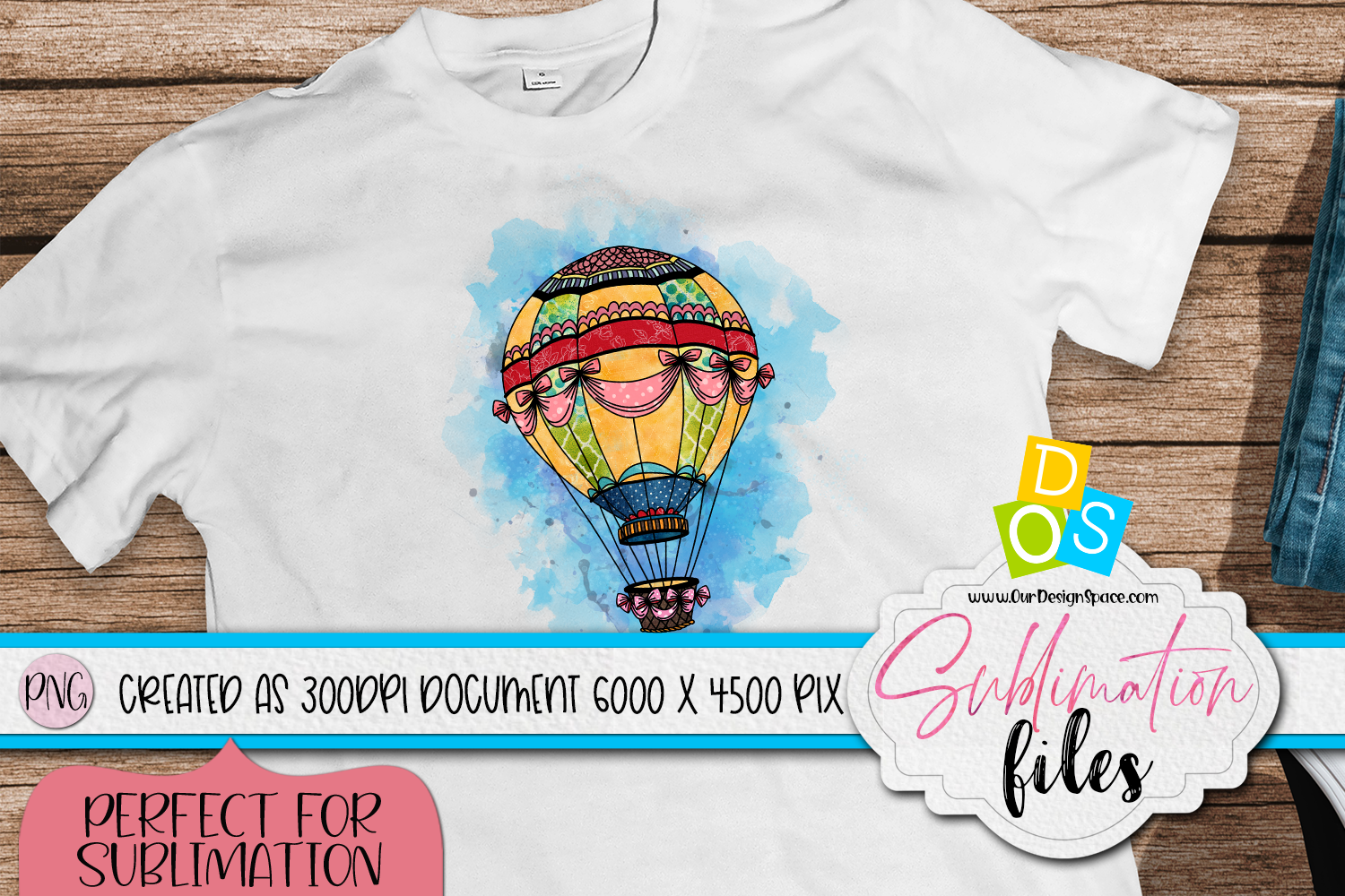 Air Balloon PNG file for Sublimation
