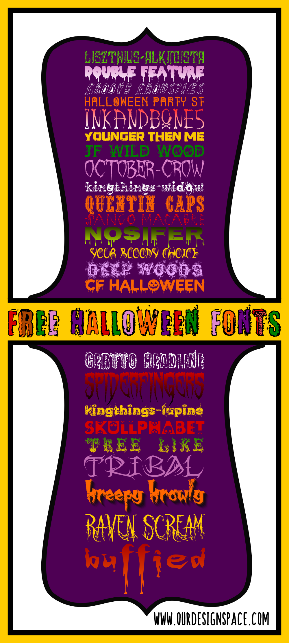 25 free halloween fonts | our design space