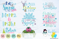 Christmas Quotes SVG, PNG, DXF and EPS