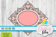 Damask Layered Frame