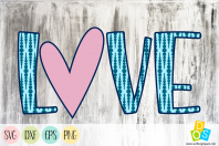 Love 1 SVG, DXF, EPS and PNG files