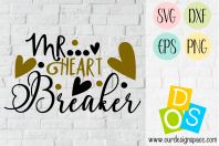 Mr Heart Breaker SVG, DXF, EPS and PNG