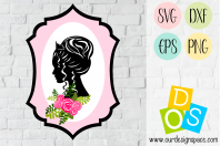 Princess Portrait SVG, DXF, EPS and PNG