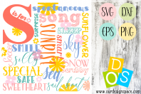 S is for... SVG, DXF, EPS and PNG printable and cuttable files