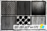 Stencils & Patterns 5 SVG, PNG, DXF and PNG
