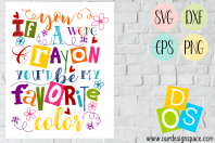 Crayon Saying SVG, DXF, EPS and PNG