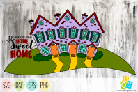 Home Sweet Home SVG, DXF, EPS and PNG
