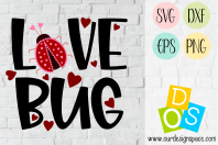 Love Bug Valentine SVG, DXF, EPS and PNG