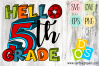 Hello 5th Grade SVG, DXF, EPS and PNG