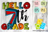 Hello 7th Grade SVG, DXF, EPS and PNG file
