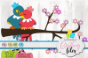 Love Birds SVG DXF EPS and PNG