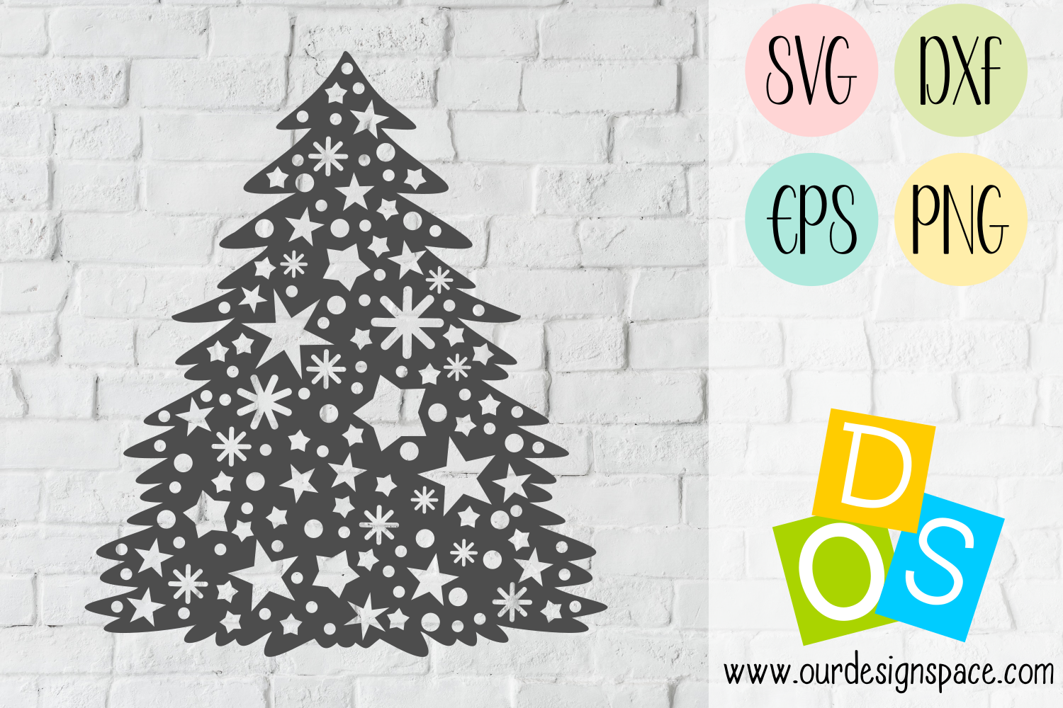 Stary Tree SVG, DXF, EPS and PNG craft files